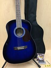 VGS Mini Acoustic Guitar D-baby Blueburst,3/4 Size+Free Gig Bag,Extra String Set
