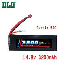 Genuine DLG RC Battery 14.8V 4S 25C 3200mAh Burst 50C Li-Po LiPo Dean's T plug