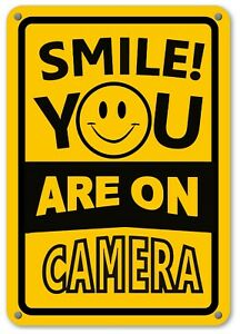 Smile You're On Camera Sign Home Security Waterproof UV protected CCTV Signs NEW