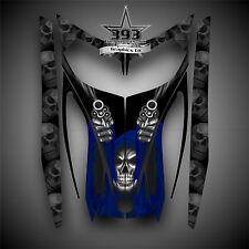 SKI-DOO REV MXZ SNOWMOBILE SLED WRAP GRAPHICS HOOD DECAL KIT 03-07 Reaper Blue