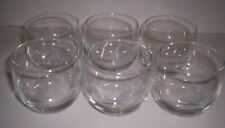 6 Vintage Original Piedmont Airlines Roly Poly Glasses with Speed Bird Logo