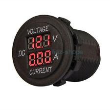Auto Dual Digital Amp Volt Meter Gauge Voltmeter Ammeter Led Car Display Red