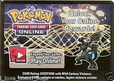 LOT OF 2 X POKEMON ONLINE CODE CARD FROM THE 2012 ZEKROM EX TIN