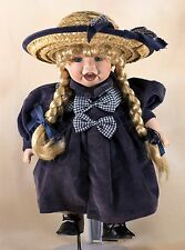 """Camelot Porcelain Collector's Doll 11"""" Blond Hair With Braids Blue Eyes"""