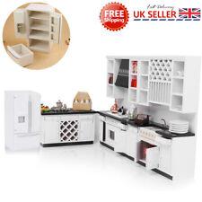 1/12 Doll House Kitchen Furniture Miniature Modern Fridge Refrigerator Decor