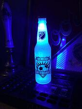 MLS San Jose Earthquakes  Soccer 12 oz Beer Bottle Light LED Bar Man Cave