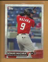 Nomar Mazara RC 2015 Topps Pro Debut Rookie Card # 90 Texas Rangers Baseball