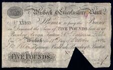 Great Britain: WISBECH & LINCOLNSHIRE BANK 1894 £5 Wisbech. Outing 2382y Fine