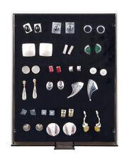 Sammelboxen für Pins/orden/abzeichen Lindner 2458 Rauchglas / schwarze Einlage