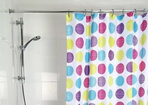 Croydex Textile Shower Curtain Textured Dots 180cm X 180cm