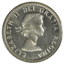 1955 Canada $1 Silver Dollar - ICCS PL-66