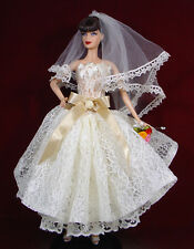 BARBIE DOLL ROBE DE MARIÉE WEDDING GOWN #04878