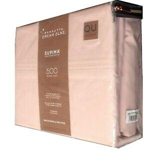 """New ROSE PINK Wamsutta Dream Zone 500 TC QUEEN Sheet Set fits 20"""" Deep Mattress"""