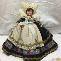 "Vintage Doll Ornate Dress 9"" Tall"