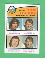 1976-77 OPC O PEE CHEE  # 389  Islanders Team Leaders   nrmnt-mt Trottier