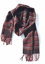 """CHELSEY II Multi-color Scarf Man 100% Wool 12"""" x 62"""" Made In Germany NEW"""