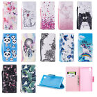 Patterned Card S lot Stand Wallet PU Leather Flip Case Cover For Samsung Galaxy