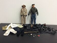 "Army Action Figures 12"" Lot Of Two Plus Tons Of Accessories Gear Guns Vest lot 1"
