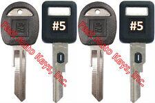 NEW GM Single Sided VATS Ignition Keys #5 (PAIR) + Doors/Trunk OEM Keys (PAIR)