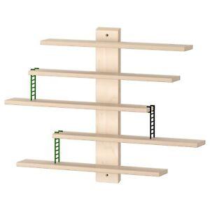 IKEA LUSTIGT Wall shelf 37x37 cm Beech Toys Display Kids Room **NEW**