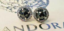 PANDORA | GLAMOROUS LEGACY BLACK SPINEL EARRINGS ✪NEW✪ 290548SPB RARE RETIRED CZ