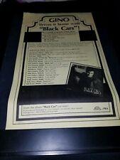 Gino Vannelli Black Cars Rare Original Radio Promo Poster Ad Framed!
