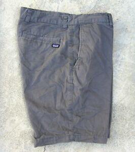 PATAGONIA Organic cotton Shorts Men's Size 31  Forge Grey