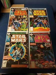 Star Wars #'s 1 - 9 Marvel 1977 series, average condition VG