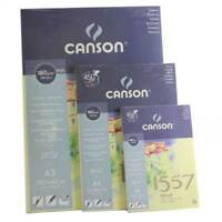 Canson 1557 180gsm A5, A4, A3 sketching drawing paper pad book spiral or gummed