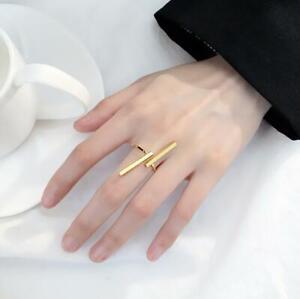 Womens Men Gold Ring Band Open Finger Adjustable Womens Girls Wedding Jewellery