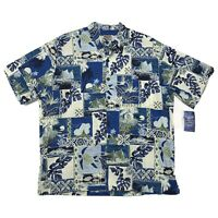 Aloha Hut Hawaii NWT Cotton Camp Shirt Mens XL Varied All Over Print SS Hawaiian