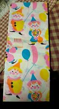 Vintage 1960s Birthday Clown Tissue Paper Rare 4 sheets