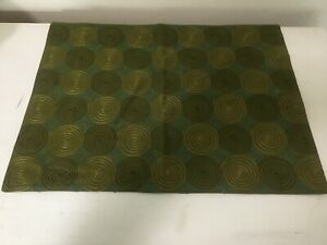 """Crate and Barrel Botella Placemat Green Set Of 4 Cotton Embroidered 19""""x14"""" NEW"""