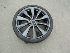 "TESLA MODEL 3 20"" 8.5J ALLOY WHEEL RIM AND WORN TYRE 1044227-00-D REF 11S04"