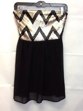 My Michelle Short Formal Dress Black And Gold Womens Size 5