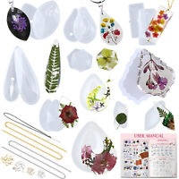 Pendant Resin Casting Moulds with Hanging Holes Jewellery Making Supply 45-Pack