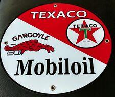 Texaco Mobil Gas Oil gasoline sign
