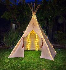 Tent Fairy Light 75 Bright Yellow LED Bulb Camping Backyard Garden Kid Playhouse