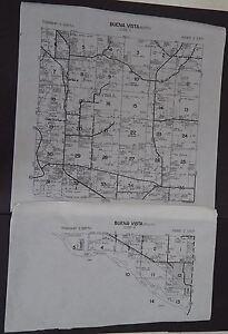 Wisconsin Richland County Map Buena Vista Township c.2010 2 maps Master