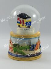 Vintage Snow Globe Water Art Glass Paper Weight 3D Resin Thai Souvenir Gift 003