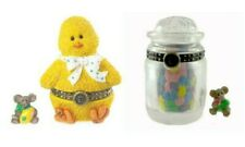 Boyds Treasure Box Set of 2 Lily'S Chick & Sweeties Candy Jar Both 1E's Nib