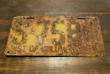 RARE ORIGINAL ANTIQUE 1930 DISTRICT OF COLUMBIA LICENSE PLATE WASHINGTON DC