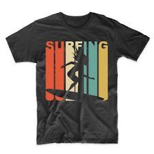 Vintage Retro 1970's Style Surfing Surfer T-Shirt