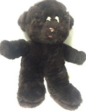 Vintage 1976 Gund Dark Brown Luv Me Bear Plush Rattle