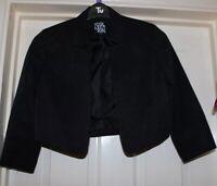 Debenhams Collection Black Cropped Blazer Jacket Size 10