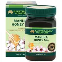 NEW Australian By Nature Bio-active Manuka Honey 16+ MGO 600+ 500g ABN