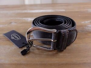 BARRETT gray suede belt authentic - Size 95 (best fits 36 inch waist) - NWT
