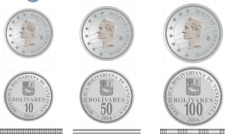 ***Set of 3 Venezuela Difficult coins. 2016.UNC.