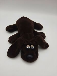 """Vintage 1980s Pound Puppies Puppy Chocolate Brown 9"""" Inch Tonka Long Ears Dog"""