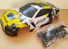 1/10 RC car 190mm on road drift Nissan GTR R35 Body Shell W/Spoiler Kit